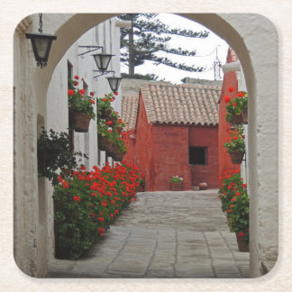 Santa Catalina Monastery in Arequipa Peru Square Paper Coaster
