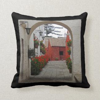 Santa Catalina Monastery in Arequipa Peru Throw Pillow