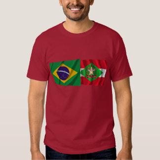 Santa Catarina & Brazil Waving Flags T Shirt