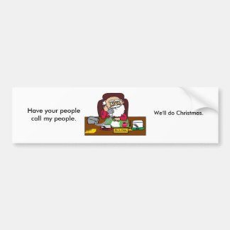 Santa CEO Bumper Sticker