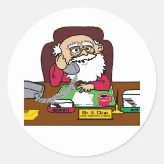 Santa CEO Classic Round Sticker