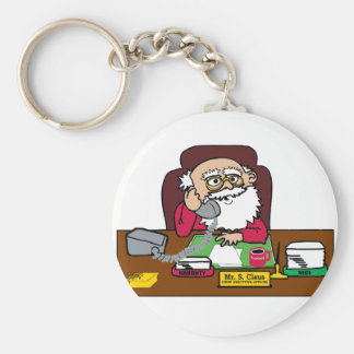 Santa CEO Keychain