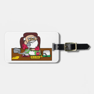 Santa CEO Luggage Tag