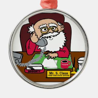 Santa CEO Metal Ornament