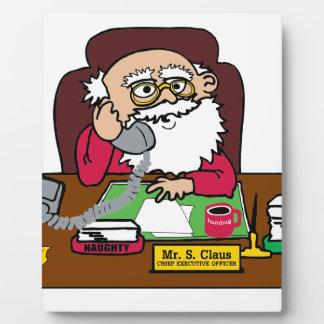 Santa CEO Plaque