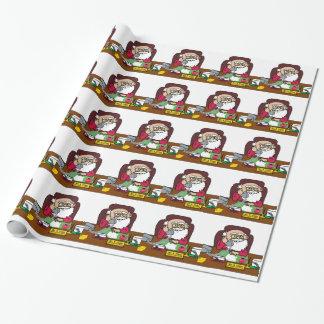 Santa CEO Wrapping Paper