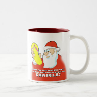 Santa Chancla Two-Tone Coffee Mug