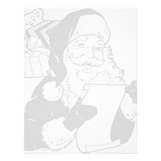 Santa checking his list personalized letterhead