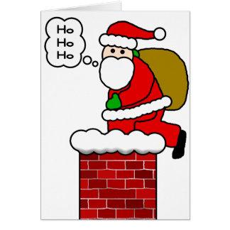 Santa & Chimney Greeting Card