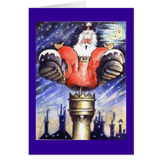 Santa Chimney Shock Card