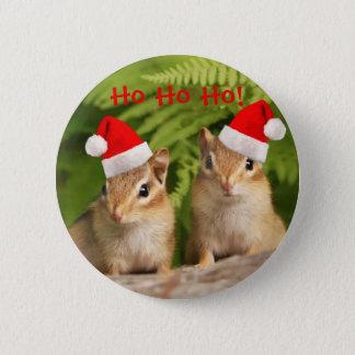 Santa chipmunks 2 inch round button