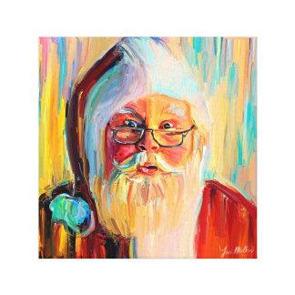 Santa Christmas and New Year Canvas Print