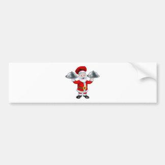 Santa Christmas Chef Character Bumper Sticker