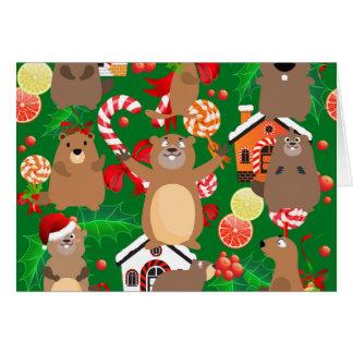 Santa christmas gopher card