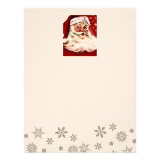Santa Christmas HO Merry Joy Peace Seasons Jolly Letterhead