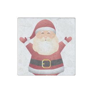 Santa Christmas Magnet- Kitchen Decoration or Gift Stone Magnets