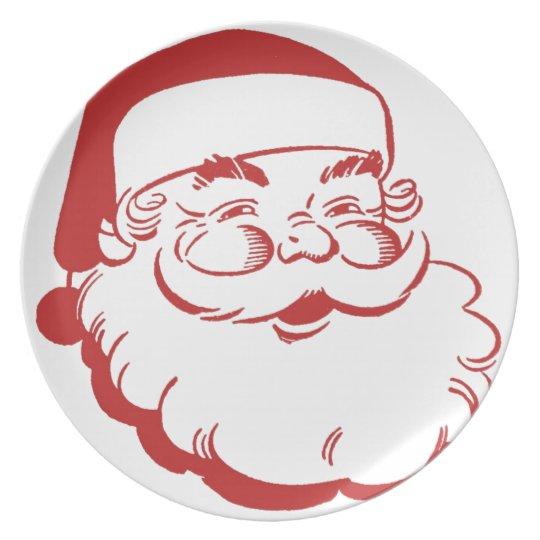 Santa Christmas Plate