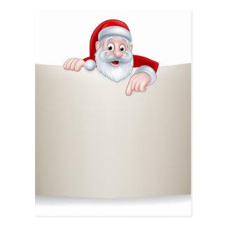 Santa Christmas Scroll Background Postcard