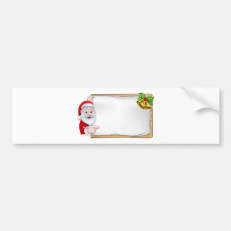 Santa Christmas Sign Bumper Sticker