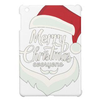 Santa Christmas White Minimalist Design Cute Gift Case For The iPad Mini