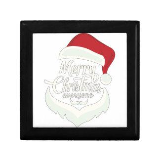 Santa Christmas White Minimalist Design Cute Gift Keepsake Box