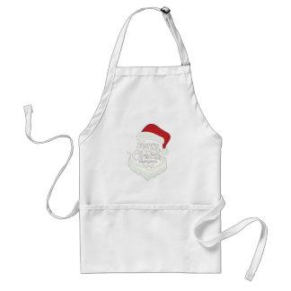 Santa Christmas White Minimalist Design Cute Gift Standard Apron