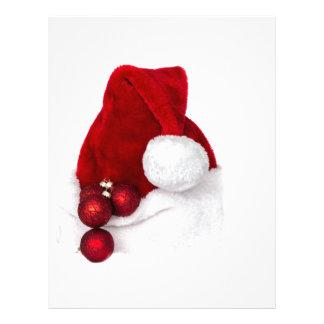 Santa Christmas Winter Hat Stocking Red Customized Letterhead