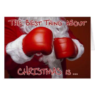 Santa Christmas Xmas Funny Humour Boxing Day Card