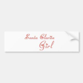 Santa Clarita Girl tee shirts Bumper Sticker