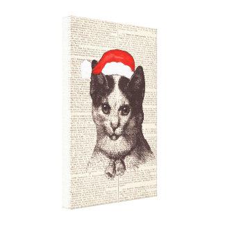 Santa Claus Сat Canvas Print