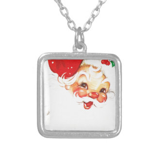 Santa-Claus #2 Silver Plated Necklace