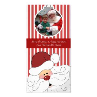 SANTA CLAUS 8x4 Holiday Christmas Photo Card