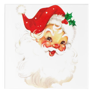 Santa Claus Acrylic Wall Art