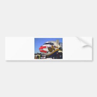 SANTA CLAUS AIRLINER MID-AIR CAR BUMPER STICKER
