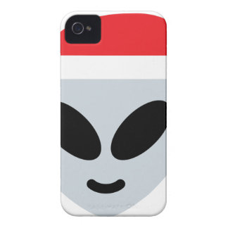 santa claus alien emoji Case-Mate iPhone 4 cases