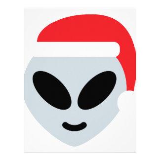santa claus alien emoji letterhead
