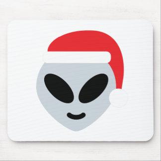 santa claus alien emoji mouse pad