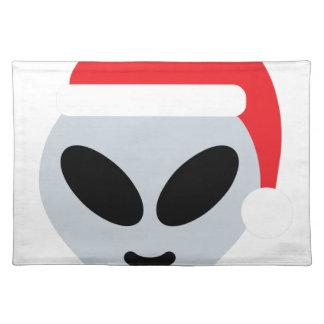 santa claus alien emoji placemat