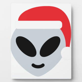 santa claus alien emoji plaque