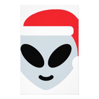 santa claus alien emoji stationery