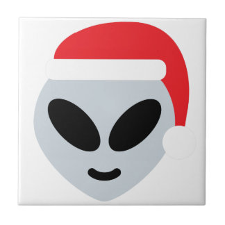santa claus alien emoji tile