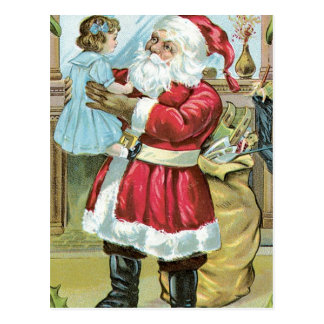 Santa Claus and Baby Post Cards
