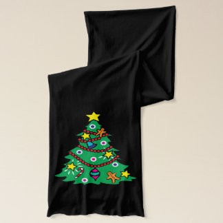Santa Claus and Christmas Tree Scarf
