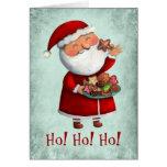 Santa Claus and Cookies Greeting Card