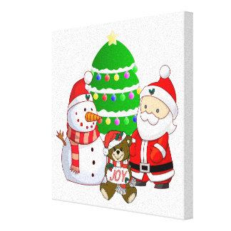 Santa Claus and Friends Canvas Prints