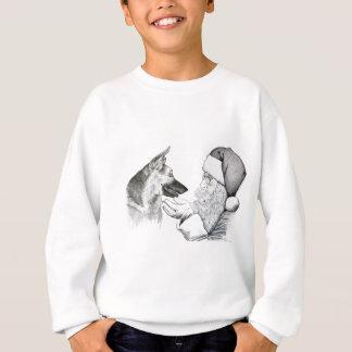 Santa Claus and German Shepherd Sweatshirt