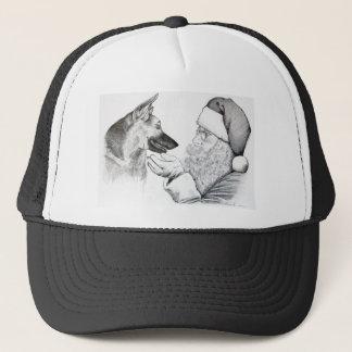 Santa Claus and German Shepherd Trucker Hat