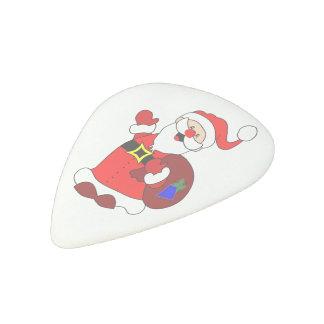 Santa Claus and gift bag clipart Acetal Guitar Pick