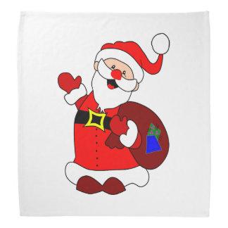 Santa Claus and gift bag clipart Bandana