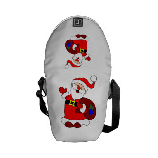 Santa Claus and gift bag clipart Courier Bags